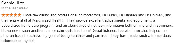 Chiropractor Centennial Connie Hirst review