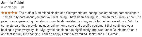 Chiropractor Centennial Jennifer Rubick review