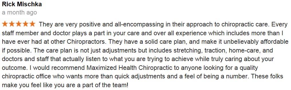 centennial chiropractors Rick