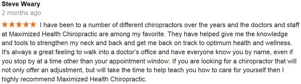 centennial chiropractors Steve